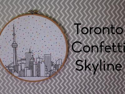 Toronto Confetti Skyline Time Lapse Embroidery