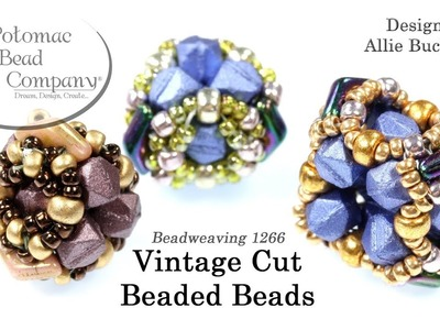 Vintage Cut Beaded Beads (DIY Beaded Beads Tutorial)