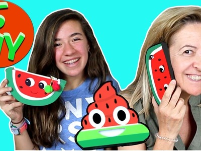 5 {Easy} WATERMELON crafts to do when you are bored: iphone case, squishy.  | Easy DIY Crafts