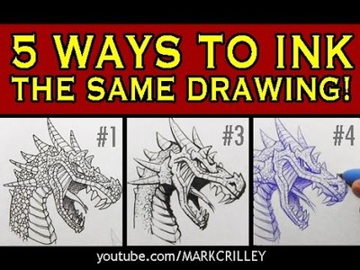 5 Ways to Ink the Same Drawing: Narrated Inking Tutorial