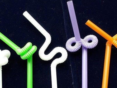 Art projects with drinking straws - How to style the art drinking straws