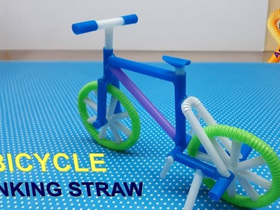Awesome DIY bicycle - How to make a bicycle at home with drinking straws