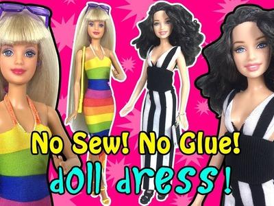 Barbie Dress Up - How to Make Easy No Sew Barbie Doll Dress