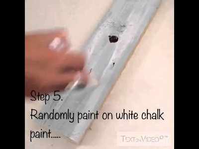 Chalk paint layered look.