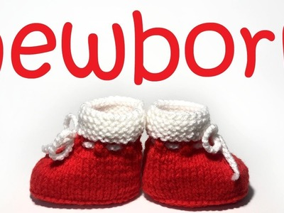 Christmas Booties for a Newborn - Step by Step