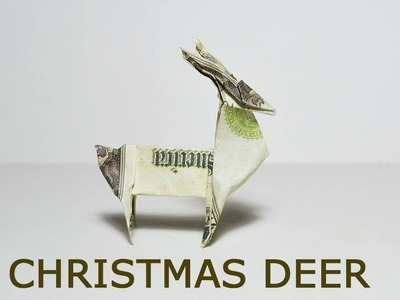 Christmas Money Deer Origami 1 Dollar Tutorial DIY Folded No glue