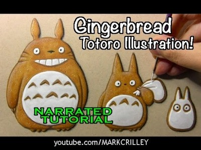Coloring Tips: Gingerbread Totoro Illustration