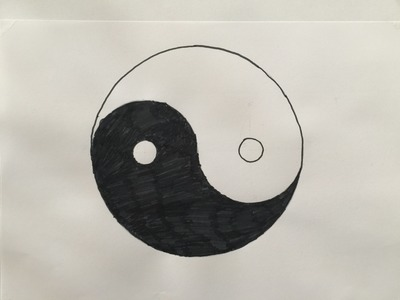 Comment Dessiner Le Yin & Yang - How To Draw The Yin & Yang.