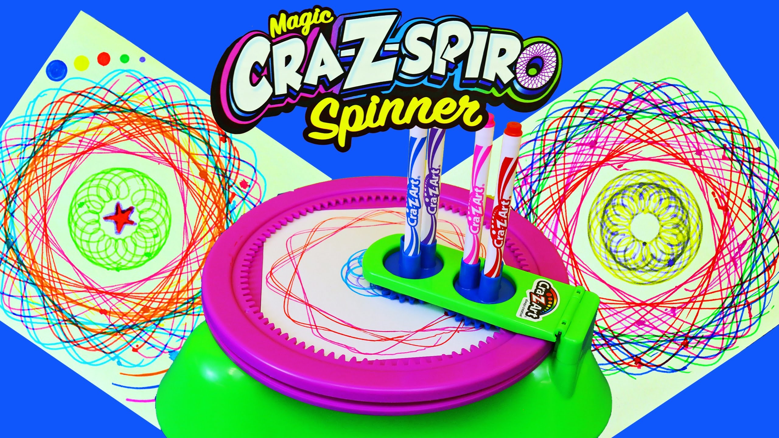 Cra-Z-Art Fun Spin Art Maker Called Cra-Z-Spiro Spinning Stencils