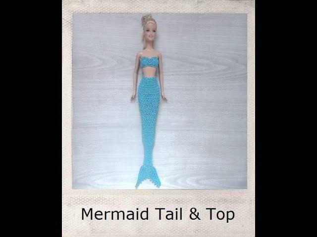 Crochet Barbie Mermaid Tail Top Tutorial