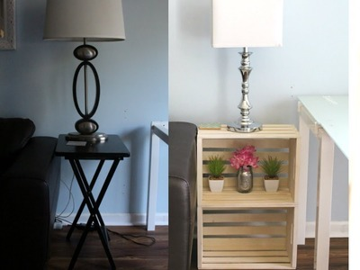 DIY End Tables, NO TOOLS| Easy, How to Crates