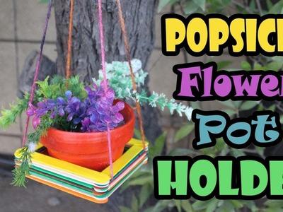 DIY Macrame Plant Holder with Popsicle sticks | 5 Minute Macrame Planters | Plant Hanger Crafts