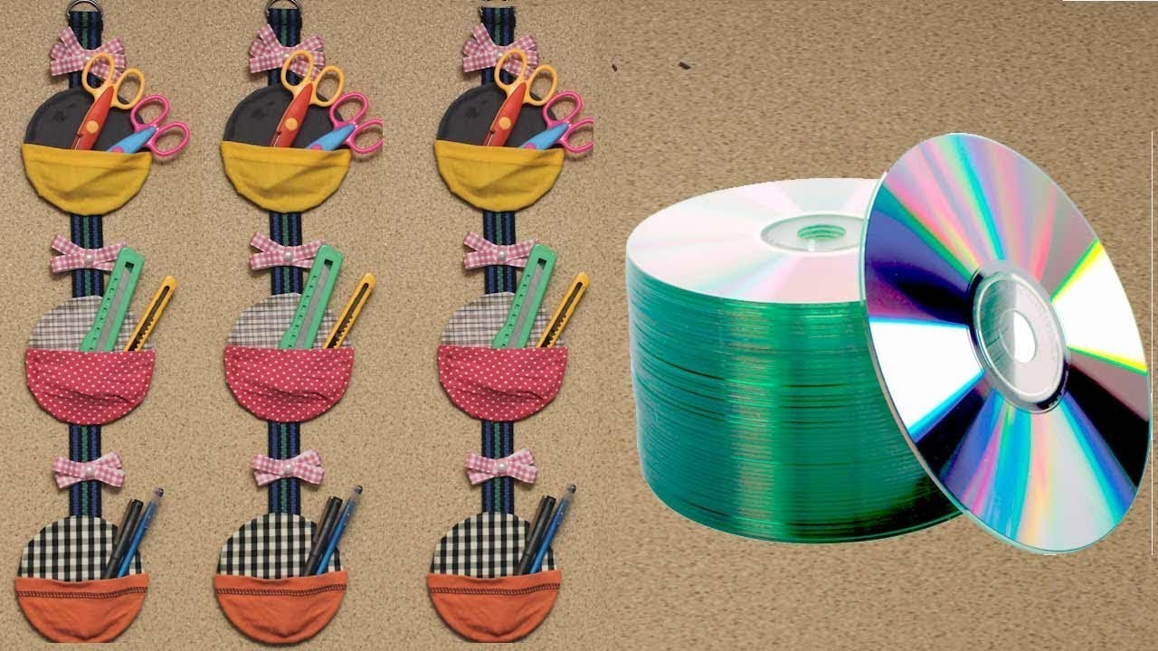 DIY Organizer From Old & Waste CD's | Best Out Of Waste | DIY Crafts