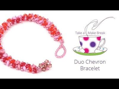 Duo Chevron Bracelet | Take a Make Break with Beads Direct