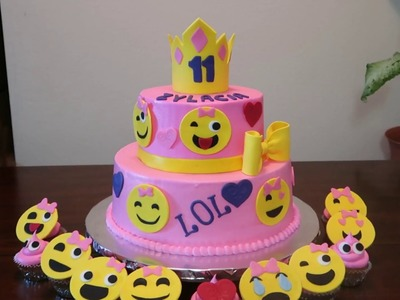 Emoji Faces Cake | Emoji's Party Ideas| DIY & How to