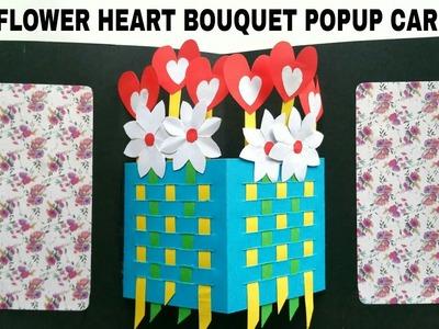 Flower Heart Bouquet Popup Card - DIY Tutorial - 870