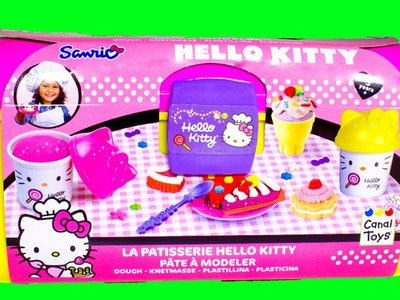 Hello Kitty Pastry Shop Play Set - Make Donuts, Ice Creams & Cupcakes with Play Doh