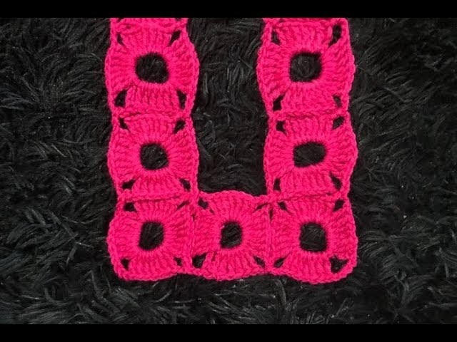 How to Crochet and Join One Row Square Motifs Pattern #612│by ThePatternFamily