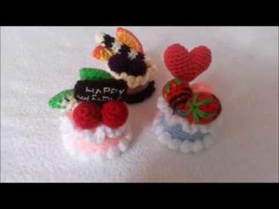 How to crochet basic sponge cake. mini cake