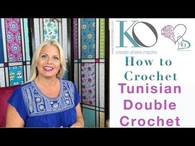 How to Crochet Tunisian Double Crochet Stitch