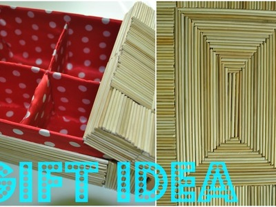 How to decorate a box with bamboo sticks - GIFT IDEA!