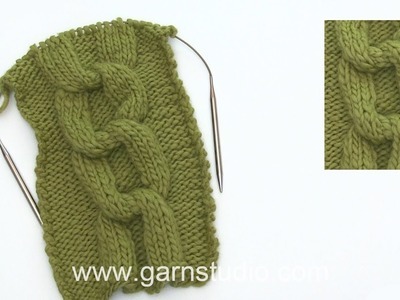 How to knit a cable knot