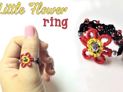 How to macrame a ring The little flower