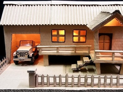 How to Make Farmhouse Model from Cardboard
