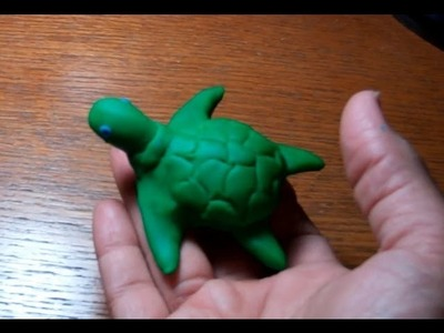 How to make Play Doh animals - Sea Turtle