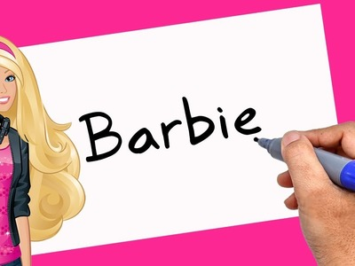 How to Turn words Barbie Into Cartoon - 2018 - Theakashcreations