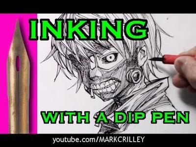 Inking with a Dip Pen: Ken Kaneki ( + NEW BOOK REVEAL!)