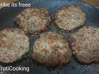 KACHE KEEMA KE KABAB RECIPE   Smokey Kabab (Raw Minced Meat Kebab) (BBQ Style) in Urdu.Hindi.English