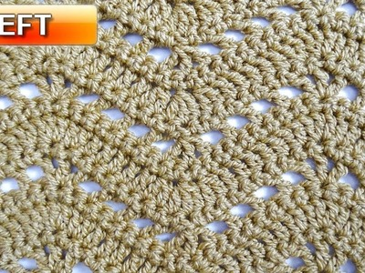 Lacy Ripple 2 Crochet Stitch - Left Handed Crochet Tutorial