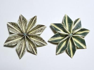 Magic Money Flower Origami Dollar Tutorial DIY Folded No glue and tape