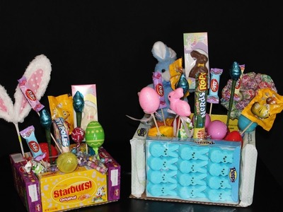 Make an easter basket out of candy! Fun and Yummy!