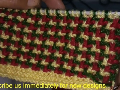 Multi colour Knitting design || Design for Sweaters and blankets || very easy to make