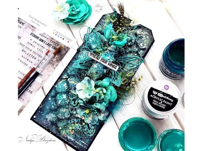 "Step-by-Step Mixed-media Tag Tutorial ""Spread your wings"""