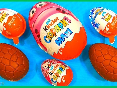 Super Surprise Eggs Kinder Joy Toys Fun for Kids - Learn Colors Play Doh