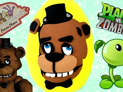 Wacky Five Nights at Freddy's Wednesday! Play Doh Egg! Plants Vs  Zombies Garbage Pail Kids