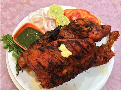 Whole Chicken Tandoori without Oven - English subtitles   No oven Whole Chicken Tandoori Recipe