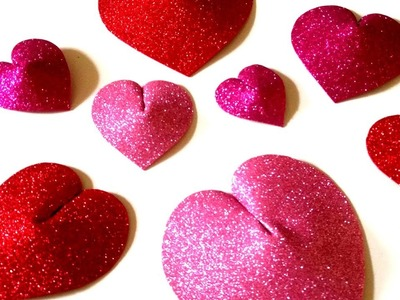 3D Heart , How to make a 3D Paper Heart Valentine's Day Craft
