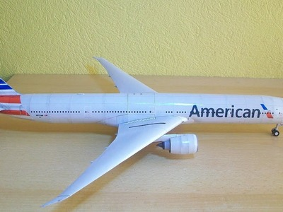 American Airlines B777-300ER Papercraft