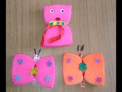Art and Craft - Sponge craft Dolls Butterfly