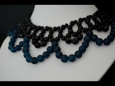 "Aylake - How to make simple beaded  ""Classic collar"""
