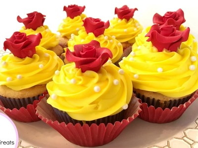 BEAUTY AND THE BEAST ENCHANTED ROSE CUPCAKES!???? - MISS TRENDY TREATS