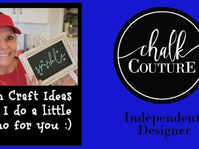 Chalk Couture Craft Idea & Demo and a small Michaels Haul