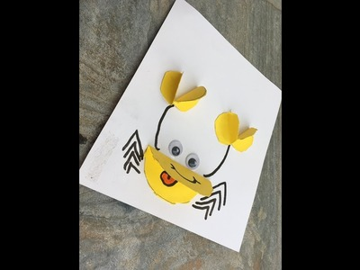 Craft Gardenia : Art and Craft : 3D Paper Crab Craft