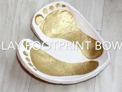 DIY CLAY HEART FOOTPRINT BOWL - EASY KIDS KEEPSAKE CRAFT