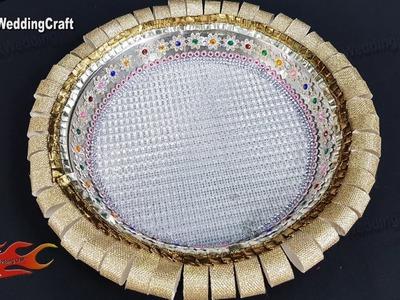 DIY Decorative pooja thali | Wedding Plate Decoration | JK Wedding Craft 145