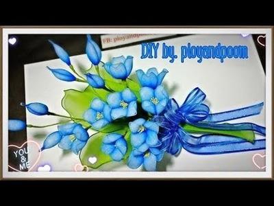 DIY easy nylon flower  (How to by ployandpoom(ผ้าใยบัว))